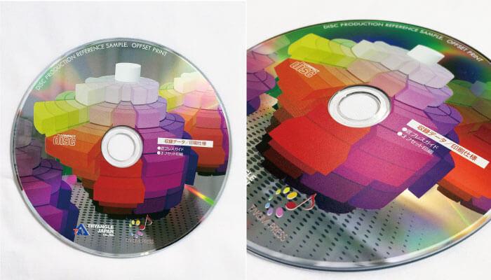 レーベル盤面オフセット印刷
