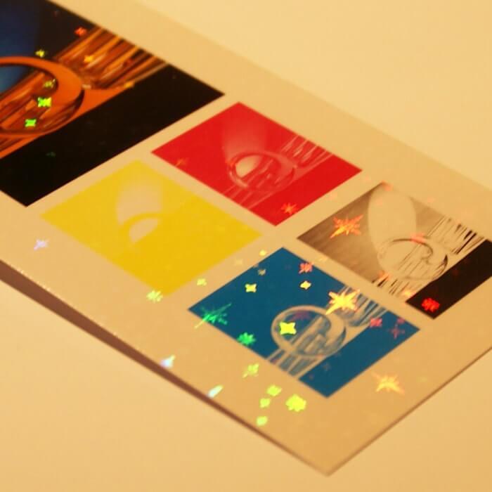 ホログラム-レインボー大小スター イメージ(大)画像