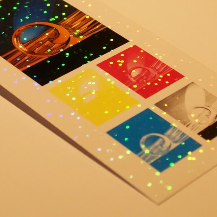 ホログラム-レインボー小スター イメージ(大)画像