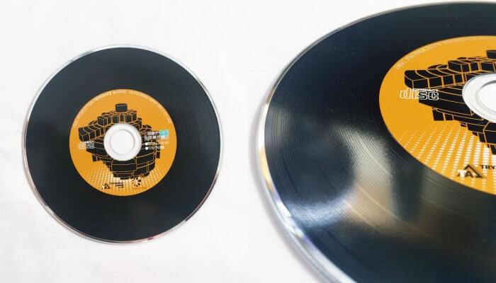 レコード溝入りディスク 大イメージ