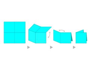スクエアタイプブックレットの図